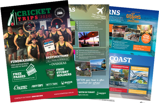 Order the cricket trips brochure